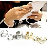 New 3Pcs/Set Fashion Top Of Finger Over The Midi Tip Finger Above The Knuckle Open Ring For women Fashion Jewelry